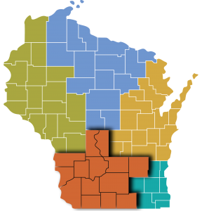wisconsin southern region map