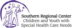 Southern Regional Center for Children and Youth with Special Health Care Needs Logo. Clicking on this image will take you to the University Center for Excellence in Developmental Disabilities at the University of Wisconsin Madison COVID -19 information.