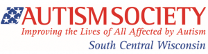 Logo for Autism Society of South Central Wisconsin including the tagline Improving the Lives of all Affected by Autism