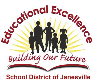 School District of Janesville logo saying Education Excellence and Building Our Future